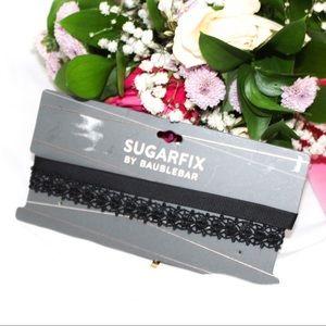 Sugarfix Baublebar Black Ribbon Choker NWT